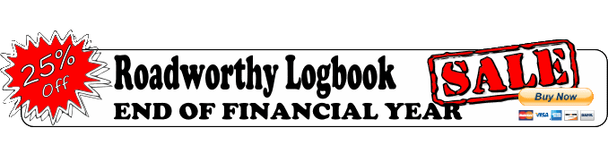 25% OFF Roadworthy Logbook